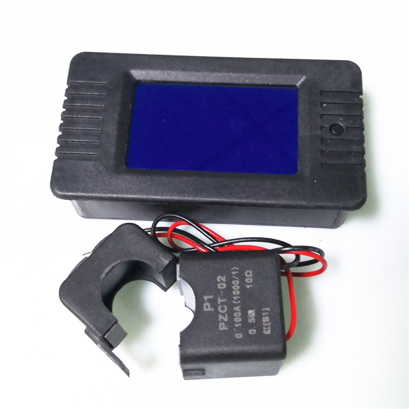 PZEM-022 medidor de energia da frequência da tensão atual do medidor do fator de potência da fase monofásica 220 v digital do watt com ct rachado
