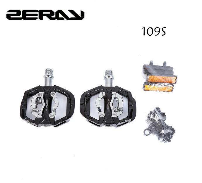 ZERAY Cycling Road Bike MTB Clipless Pedals Self-locking Pedals ZP-109S SPD Compatible Pedals Bike Parts Upgrade of zp-108s цена