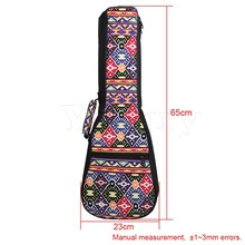 Yibuy 23/24″ Ukulele Fancy Purple Pattern Double Shoulder Carry Bag Guitar Backpack Adjustment Belt & Thickened Cotton Handle