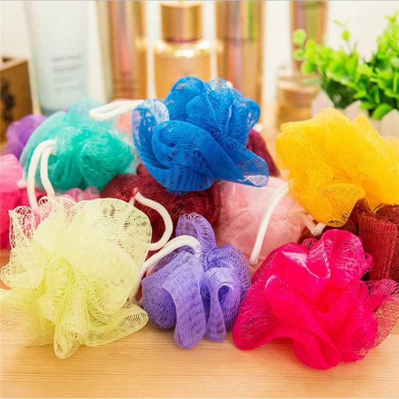bath ball bathsite bath tubs Cool ball bath towel scrubber Body cleaning Mesh Shower wash Sponge product Random Color