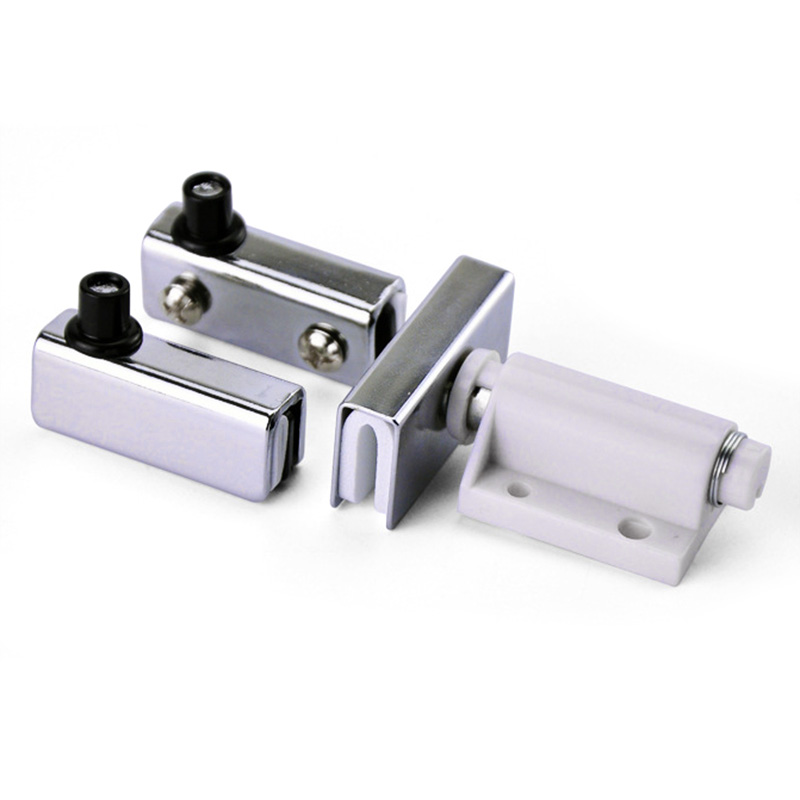 Free Opening Up And Down Shaft Hinge Glass Hardware Fittings Hinge Silver Furniture Cabinet Door Single Double Door Glass Hinge