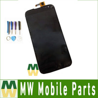 High Quality Black Color 1PC Lot For Gigabyte GSmart Saga S3 LCD Display Touch Screen Assembly