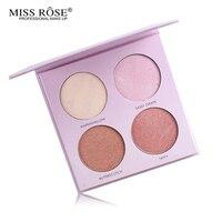 Mlle Rose Maquillage Surligneur Palette 6 Couleur Lueur Kit Visage Powder Highlight Bronzer Iluminador Maquillage baiser Visage Surligneur