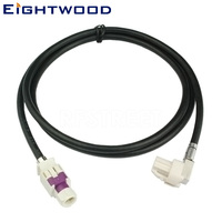 Eightwood New Vehicle High speed Transmission FAKRA HSD B White LVDS 120cm Shielded Dacar 535 4 Core Cable