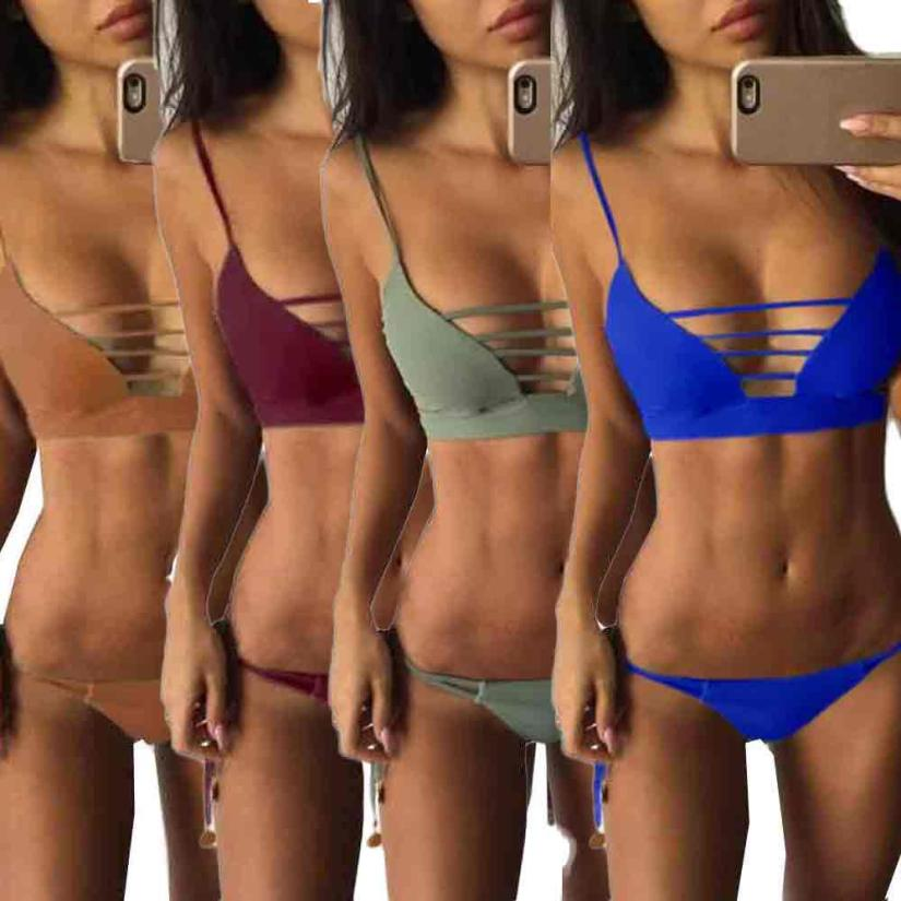 2017 New Sexy Women Bandage Bikini Set Swimwear Push-Up Padded Bra Swimsuit Beachwear Maillot De Bain Femme #1 2017 women sexy bandage bikini set push up padded bra swimsuit beachwear swimming suit swimwear maillot de bain femme may beach