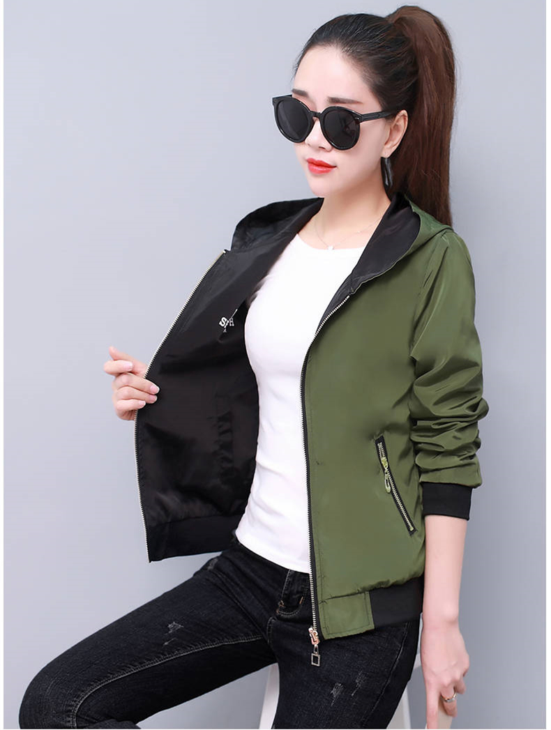 HTB1Lci XBGE3KVjSZFhq6AkaFXa2 Windbreak Jacket Women Long Sleeve Hooded Coats Spring Autumn Casual Solid Zip Up Basic Jackets for Women