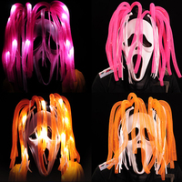 Yeni Ghost Rider kafatası maskesi oyuncak Cadılar Bayramı maskesi LED gözlük Gösterisi Parti masquerade Maskeleri oyuncaklar renkli saç Yenilik Aydınlatma