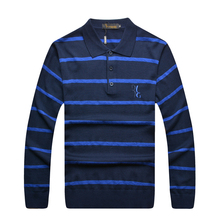Billionaire italian couture sweater men's clothing handsome turn collar stripe business casual looking nice free shipping