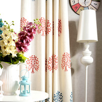 Custom high-grade cotton American living room bedroom windows landing curtains fabrics