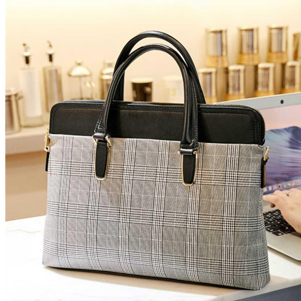 Женский кожаный портфель для ноутбука Bolsa Para, сумка для ноутбука 14