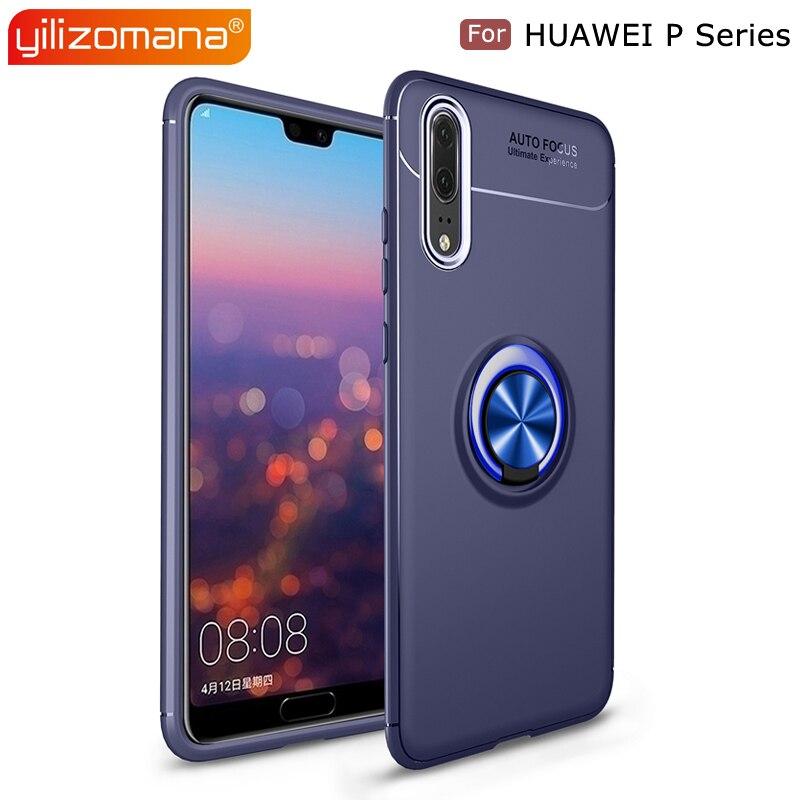 YILIZOMANA Magnetic Car Ring Holder Back Cover TPU Phone Case for HUAWEI P8 Lite P9 P10 Lite Plus P20 Pro