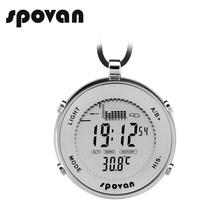 SPOVAN Men's Sports Pocket Watch, Men Watches Waterproof/Shockproof/Fishing Remind/LED Backlight/Alarm/Stopwatch SPV600