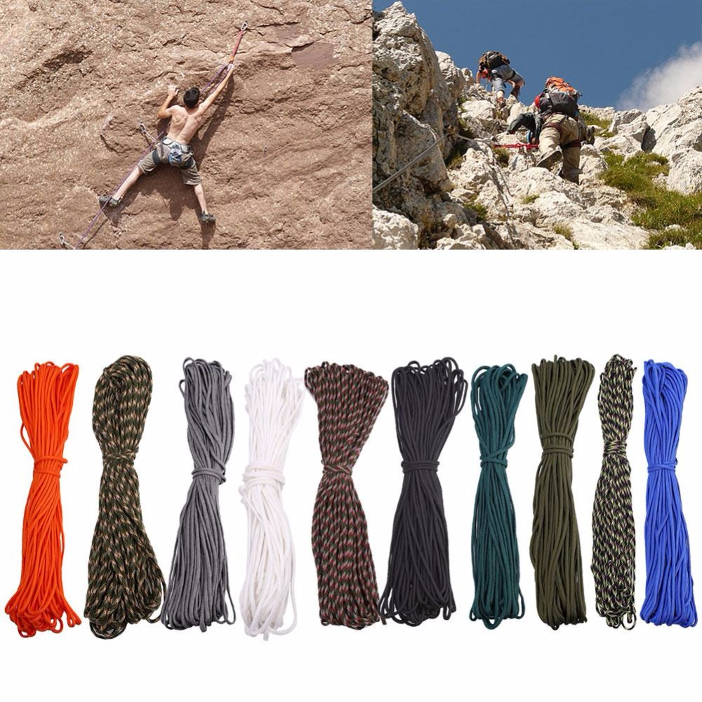 100 FT 550 Paracord Military Camping Hunting Survival Bracelet Parachute Cord #2