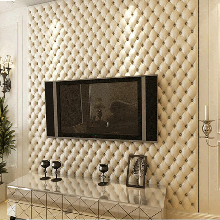European Style Imitation Soft Package 3D Stereo Wallpaper