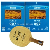 Galaxy T 11+ Table Tennis Blade With 2x Kokutaku Tuple 007 (Non Tacky) Rubber With Sponge for a Racket Long Shakehand FL