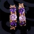 Hot Sale Gold plated Jewelry Zircon CZ Crystal Hoop Earrings for Women Luxury Wedding Bridal Jewelry Earring Free Shipping