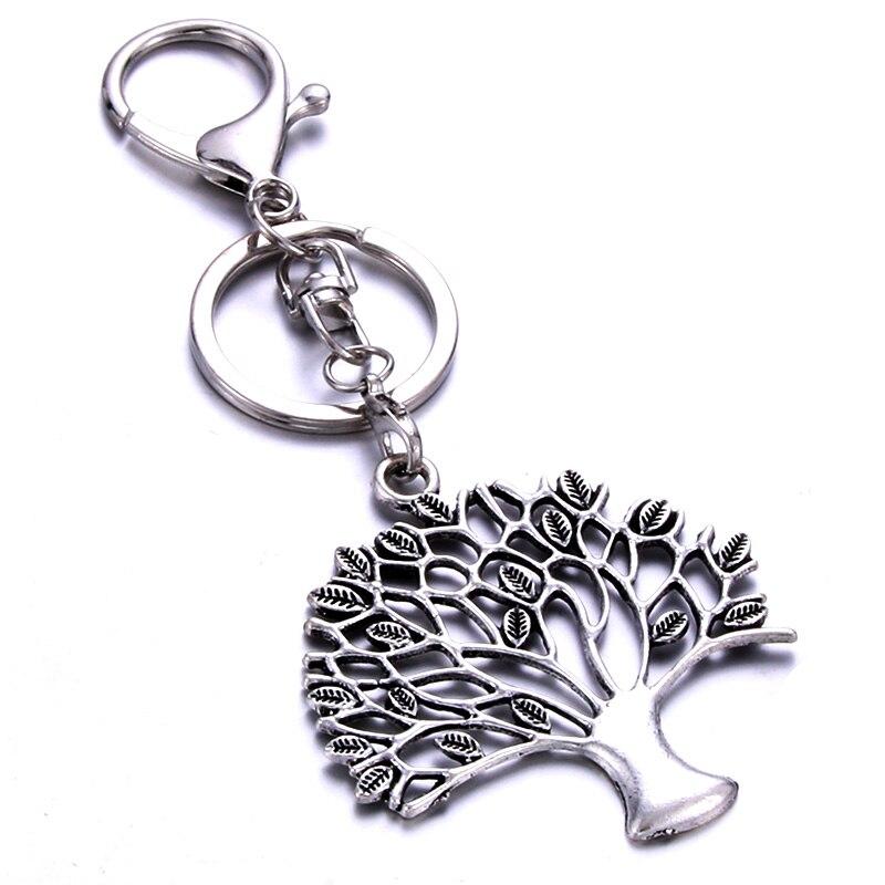 Personalizado árvore de vida forma chaveiro artesanal presente de aço inoxidável personalizado personalizado para amigos amantes uma variedade de estilos