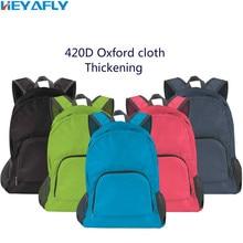 цена на Folding Shoulder Bag Backpack 420D Oxford Cloth Wrap Thickened Changing Shape Handbag Package Order 30 Pcs Free LOGO