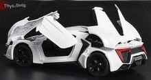 1:32 Масштаб 4 Цвет Сплава Lykan Hypersport Игрушечный Автомобиль Быстро & Furious 7 Diecast Автомобилей Модели Автомобилей Модели Игрушки С свет и Звук