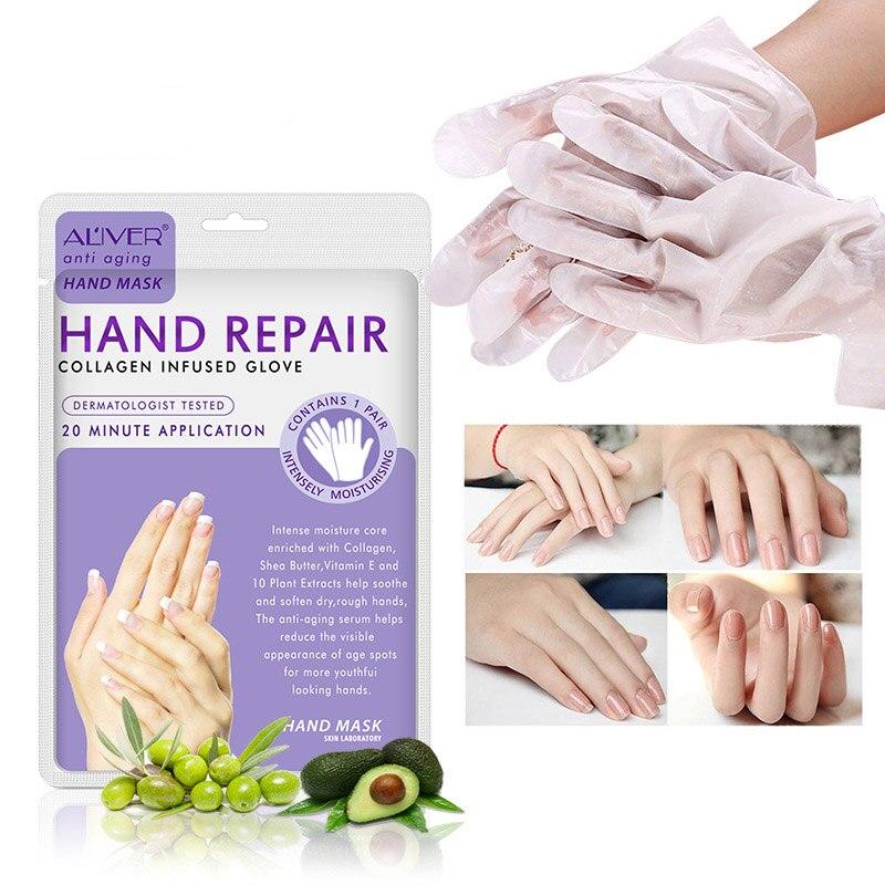 1pair=2pcs Hand Skin Care Hand Mask Plant Essence Soft Whitening Hand Mask Moisturizing Gloves Smoothing Nourishing