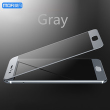 For Huawei honor 9 glass tempered glass gray MOFi for huawei honor 9 screen protector blue gold 2.5D full cover honor9 5.15″