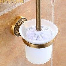 עתיק פליז צבע קיר רכוב מוצק אלומיניום Made נגד חלודה אסלת מברשת בעל עבור אביזרי אמבטיה סט אמבטיה מוצרים