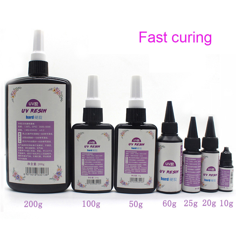 DIY UV Ultraviolet Resin Curing Solution Quick-drying Non-toxic Sunlight Activated Hard 60g JDH99