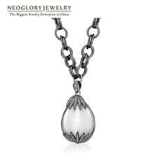 Neoglory, стразы, опал, цепочка, большие ожерелья, подвески для женщин, ювелирные изделия, новинка, модный бренд, элегантное животное, QC4