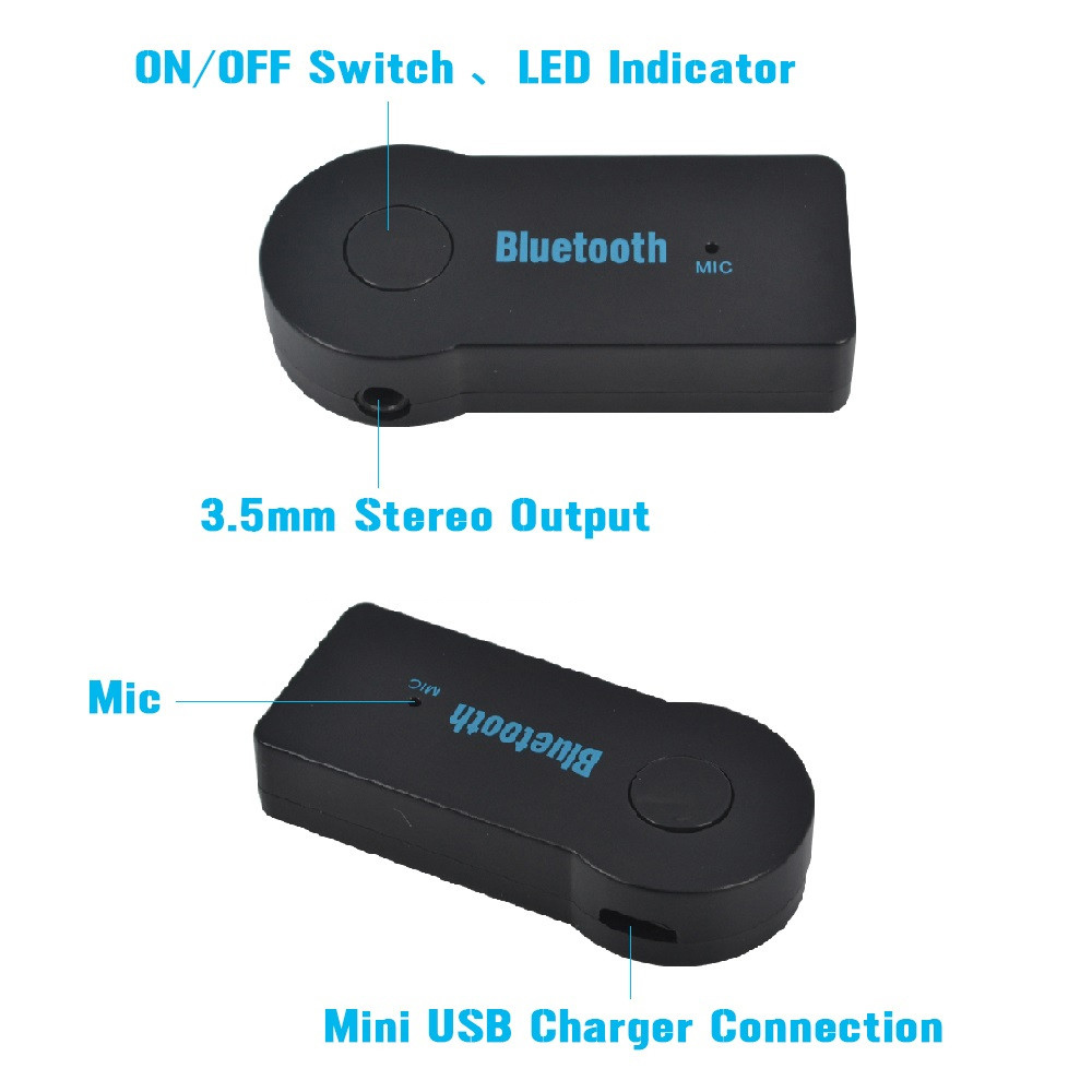 Wholesales Bluetooth Receiver 3.5mm Streaming  A2DP AUX Audio Wireless Music Receiver Adapter for Home Car Speaker Headphone