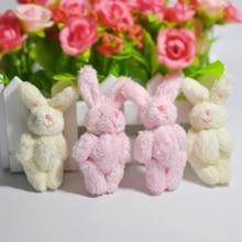 1 шт. мини 6 см шарнир кролик маленькое плюшевое игрушечное кукла, одежда и аксессуары для волос Декор плюшевые игрушки для детей