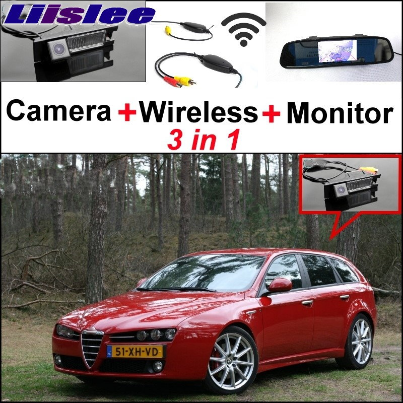 Liislee Wireless Receiver + 3 in1 Special WiFi  Rear View Camera + Mirror Monitor DIY Parking System For Alfa Romeo AR 159 3 in1 special rear view camera wireless receiver mirror monitor easy diy backup parking system for jeep liberty 2002 2007