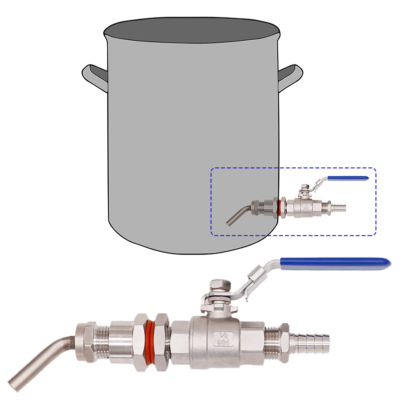 Homebrew Weldless Kettle Convert Kit W/ 3/8