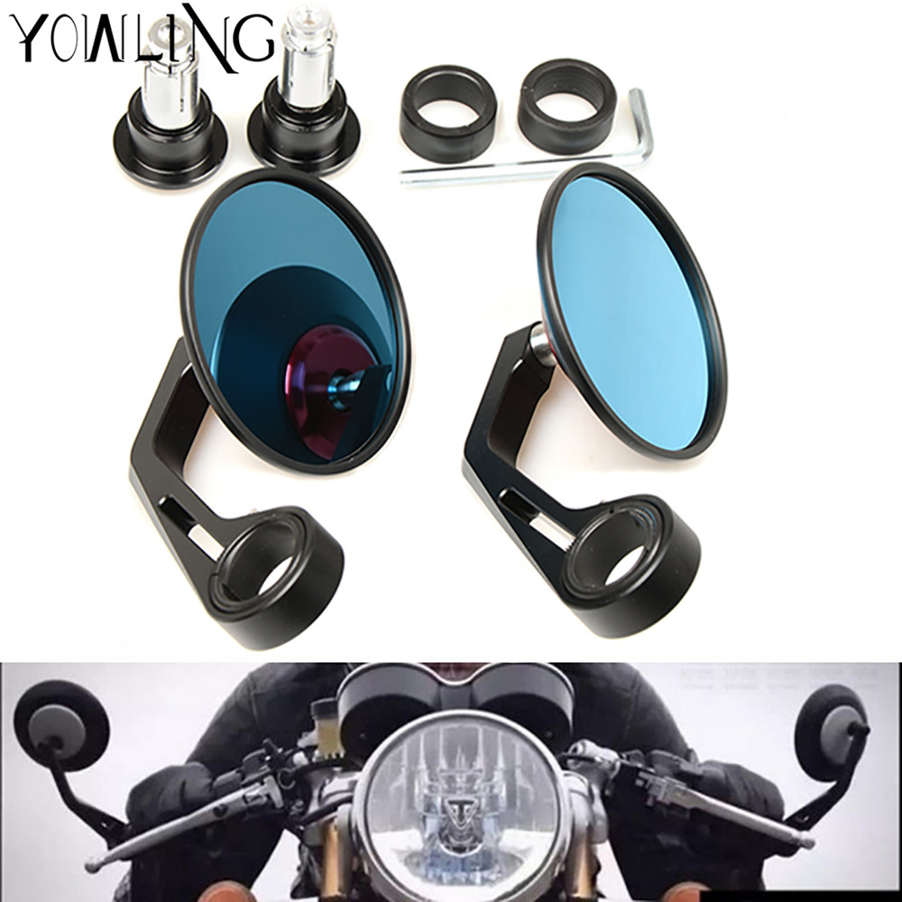 цены Rearview Mirror Handle Bar End Mirror Rear Side Mirrors For Honda CB 599 919 400 CB600 HORNET CBR 600 F2 F3 F4 F4i 900RR PCX125