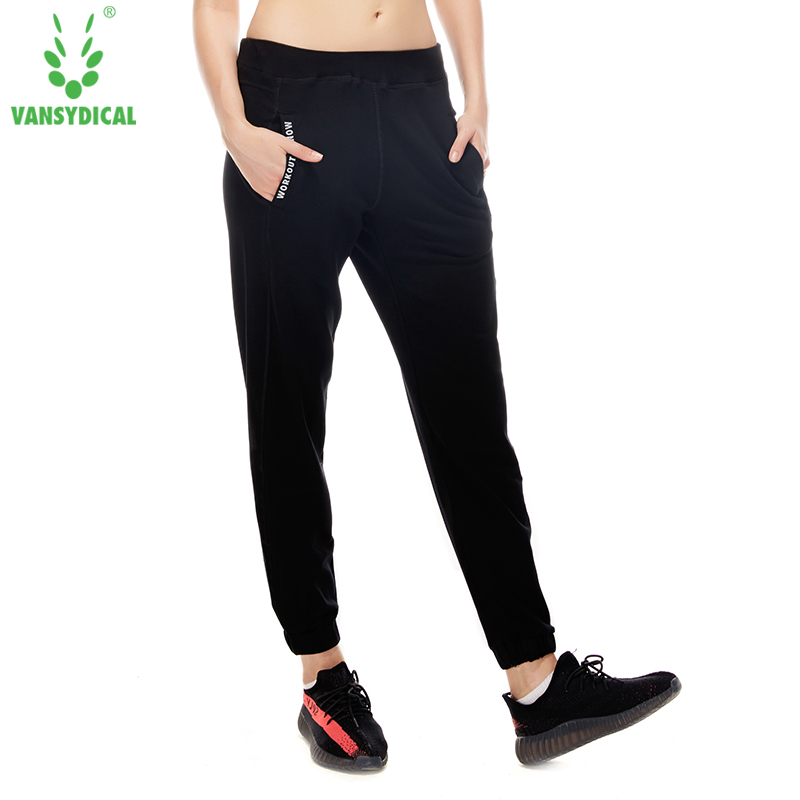 VANSYDICAL Women Running Pants Jogging Sports Yoga Sportswear Training Fitness Exercise Gym Pencil Pants Clothing Loose