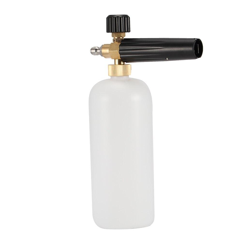 Pistola de espuma para lavado de coches, lavadora a presión, lavado a chorro ajustable, herramientas de cañón de espuma de nieve de liberación rápida de 1/4
