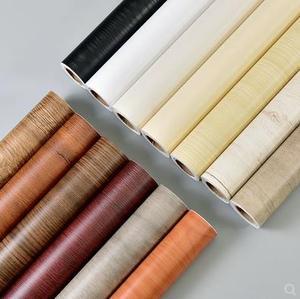 Image 2 - Wood grain self adhesive waterproof stickers wardrobe wooden door furniture walnut refurbished stickers self adhesive wallpaper