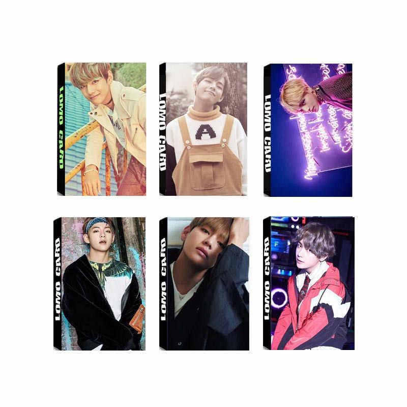 KPOP Bangtan обувь для мальчиков альбом V ломо карты K-POP Новая Мода Self Made бумага фото HD Photocard LK331