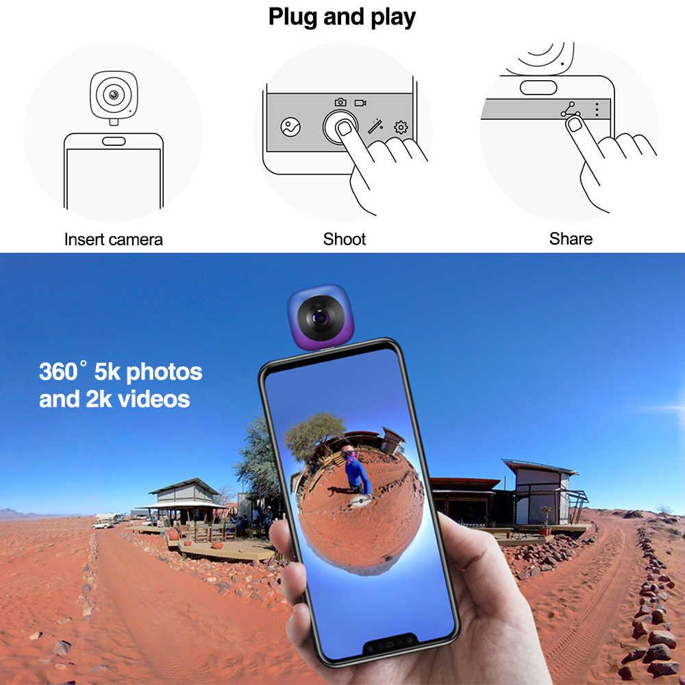 Huawei Envizion 360 Panorama Kamera Permainan Keren CV60 Lensa HD 3D Live Motion Kamera 360 Derajat Android Wide Angle Phone Eksternal