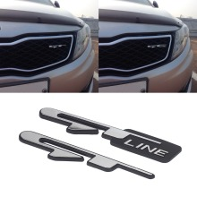 3D Stereo Chrome Car Sticker for KIA Optima K5 GT Line Ceed Auto Product Logo Emblem Badge Rear Tail Trunk Stickers Decor 2pcs 3d abs new black car sticker k logo flight front rear emblem badge for kia k5 2011 2013 optima forte emblem cover