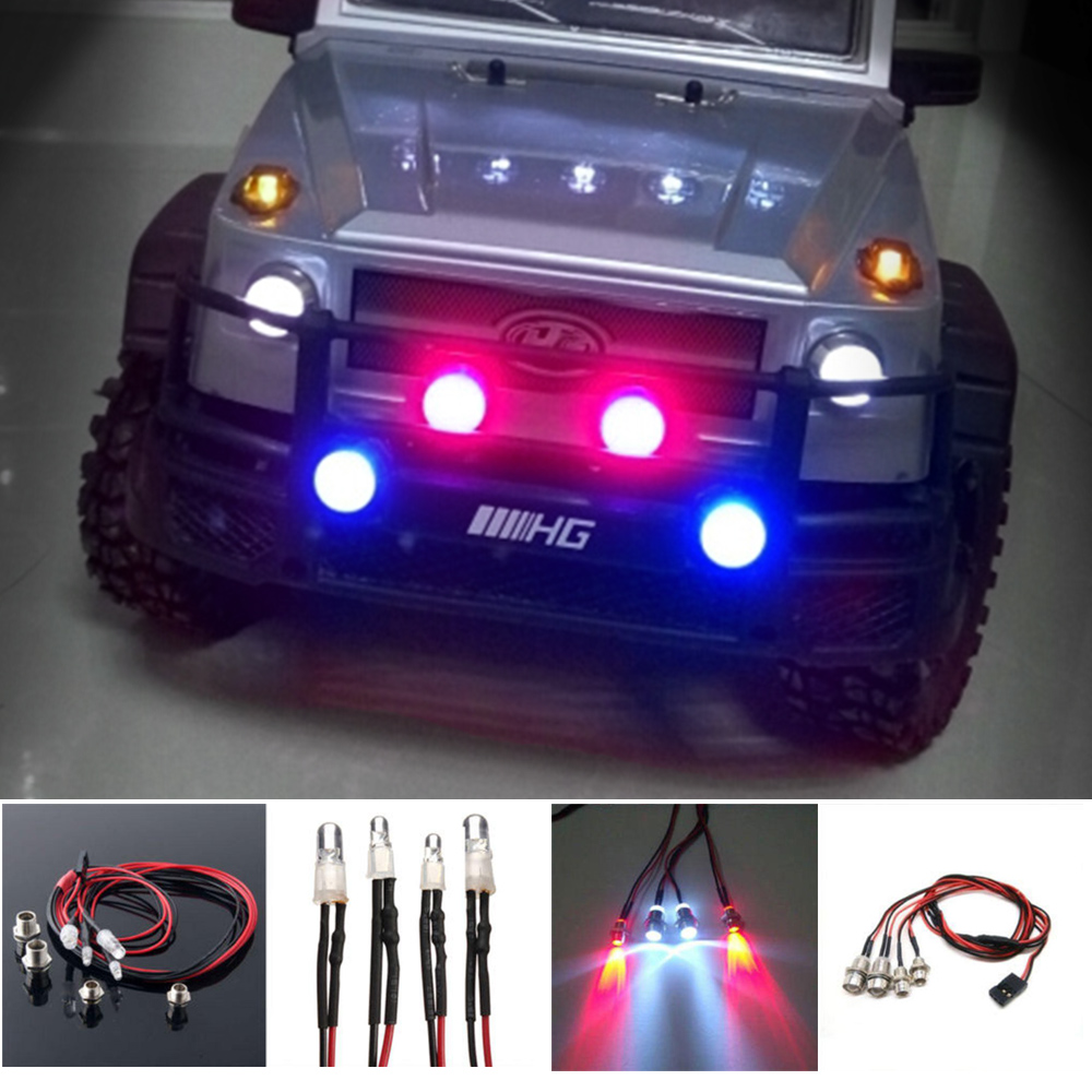 Party Supplies Model Car Lamp RC Model LED Genuine Rc Car Light Electronic Components 4pcs Car Model LED Rc Car Accessory ...