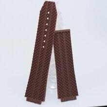2016 moda Durable 25 mm / 26 mm suave marrón deporte caucho de silicona Watch Band correa correa resistente al agua
