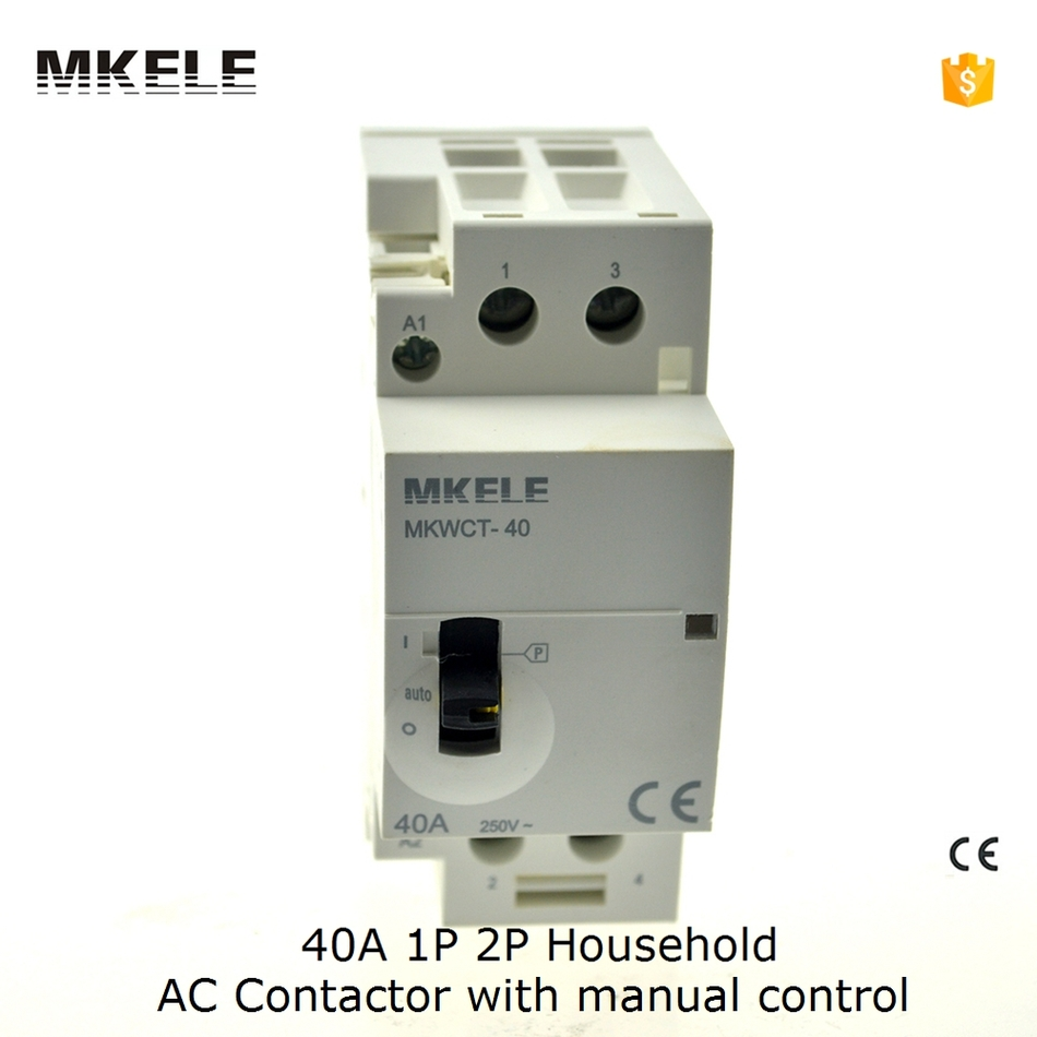 40A 2P Household AC Contactor 2NO Manually Switch 2 pole Normally ...