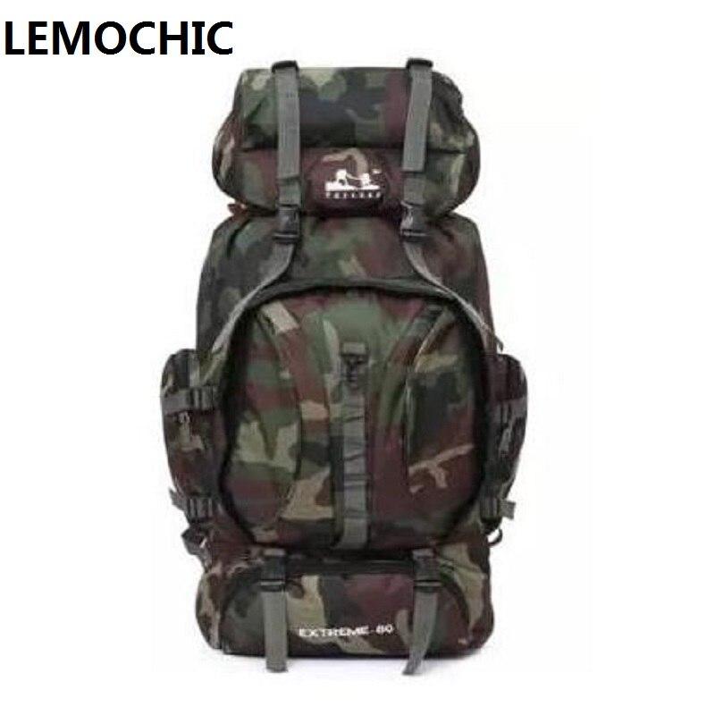 Prix pour LEMOCHIC Haute Tactique Grand Sac À Dos Sacs À Dos Pour Explorer Camping Camouflage camping randonnée en plein air 80l Sports de Plein Air Sac