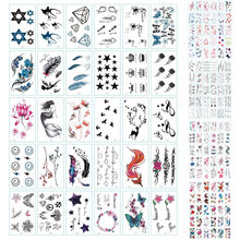 15 Pcs Glitter Temporary Tattoos Waterproof Tattoo Stickers for Adults Tattoo Body Art hand-painted male and female(China)