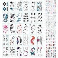 150 шт блестящие Временные татуировки водонепроницаемые наклейки татуировки для взрослых татуировки боди арт ручная роспись мужские и женс