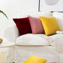 Velvet pillowcase cushion cover  throw pillow covers pillows living room decoration