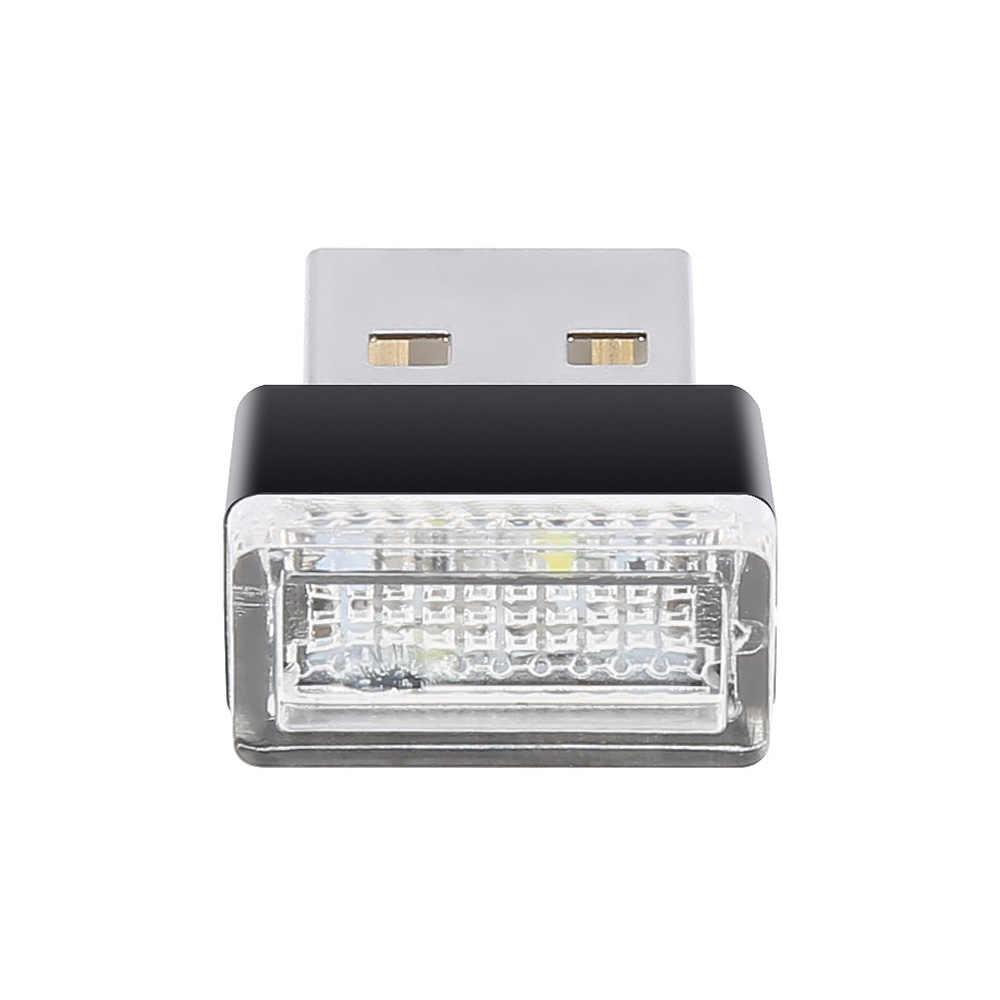 1 sztuka przenośny do samochodu światło światła atmosferyczne led dekoracyjna lampa z gniazdami USB oświetlenie awaryjne samochód stylizacji dla Auto