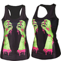 Nuevo 2016 camisa de las mujeres Pintura Patrón 3D Del hueso Del Cráneo Fresco Camisola Sexy imprimir Tanques Chaleco Tops Drop Shipping
