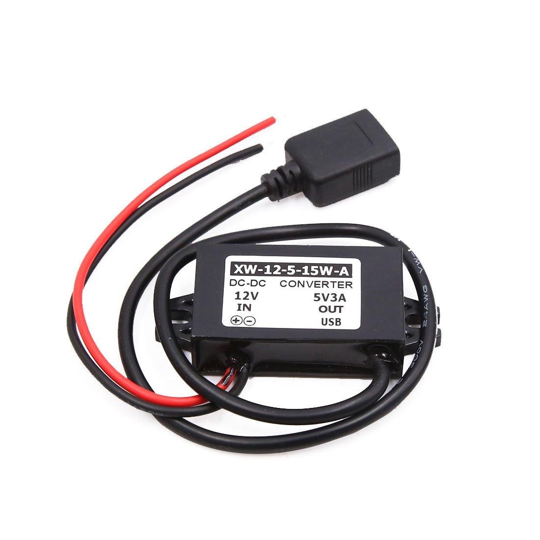 uxcell 12V to 5V 3A USB Car Step Down Reducer Power Supply Transformer Converter|Car Inverters| |  - title=