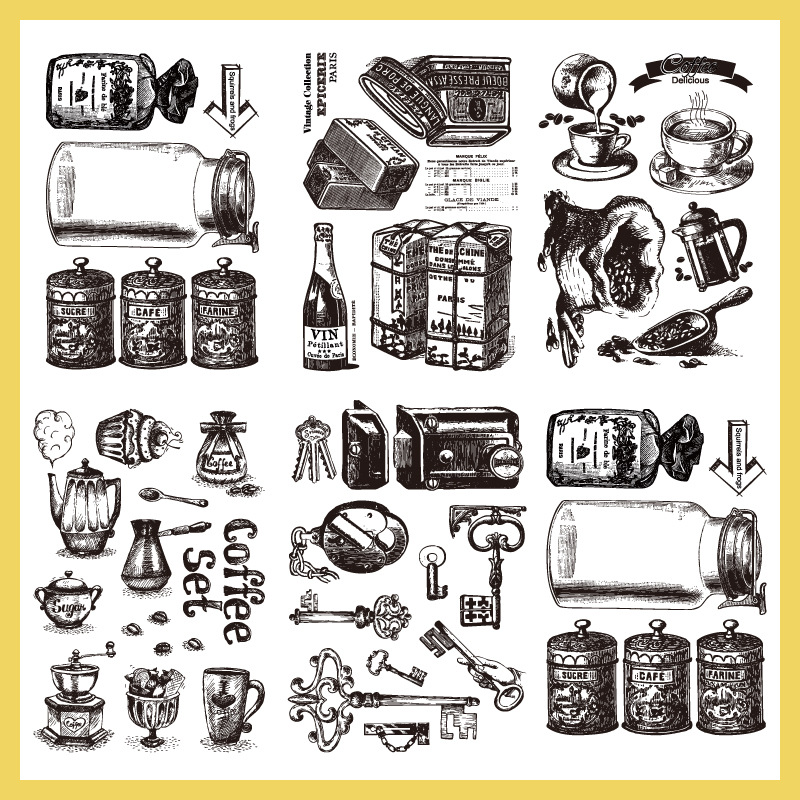 Coffee Time Transparent Clear Silicone Stamp For DIY Scrapbooking Album Decor Paper Card Photo Craft Making Die Embossing Folder clothes rack and telephone set for clear stamp designs scrapbookin photo album paper card silicone stamp craft rm 246